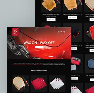shopify ecommerce webdesign for WoWo