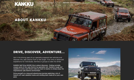 Digital website design for Kankku