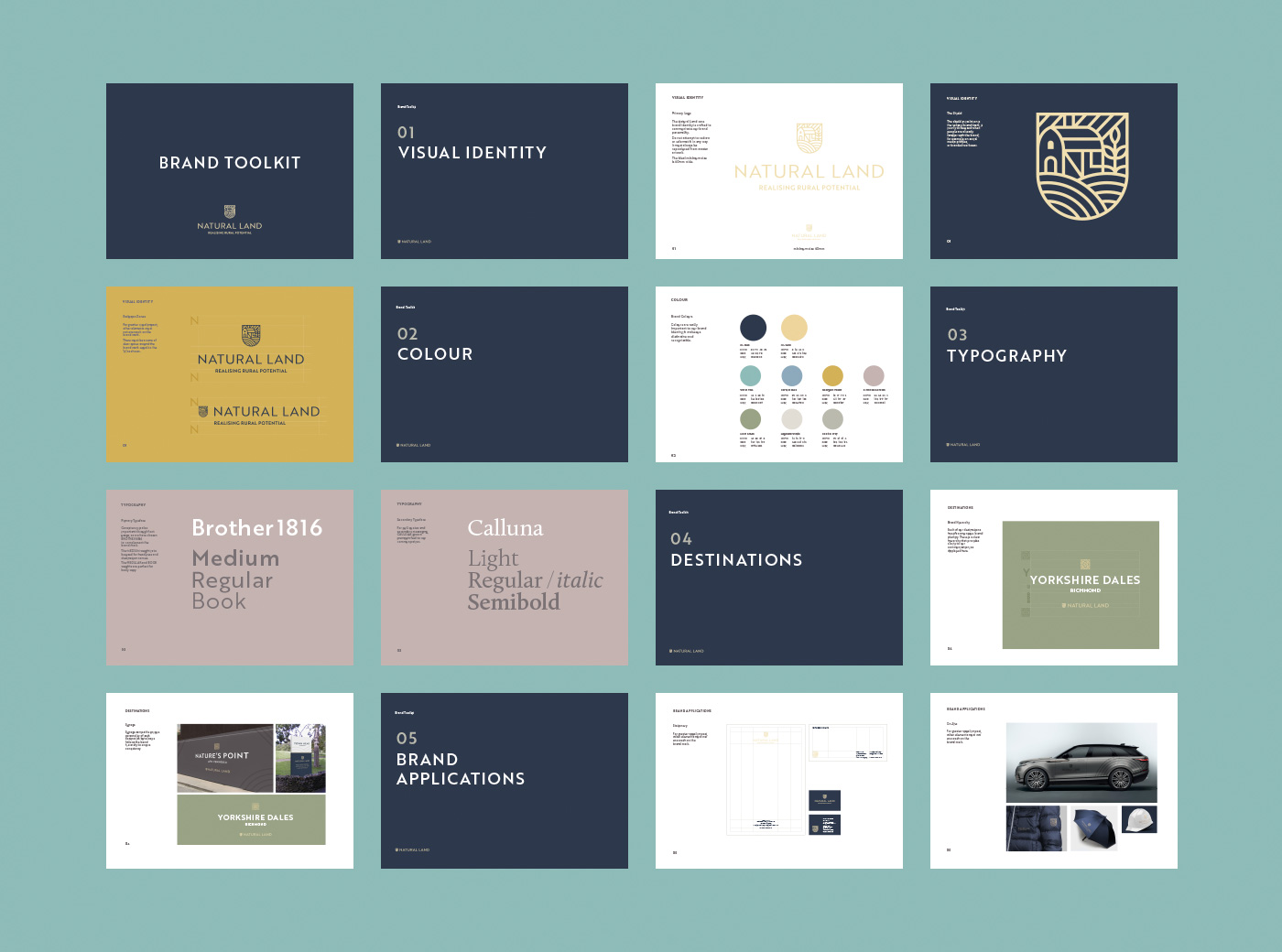 Design agency created brand toolkit for Natural Land