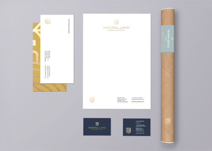 Brand collaterol including letterheads, business cards and compliment slips