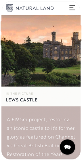 Natural Land_Website design_Cumbria