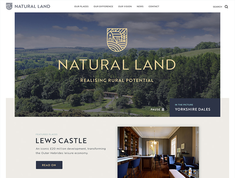Natural Land_Web design by Eclectic Creative for national clients